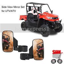 "UTV Rhino Side Mirror Folding Convex Wide Rear View 1.75"" 1 3/4"" OD Clamp - Pair"