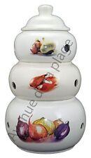 Pots pyramide ail, échalote, oignon, en céramique, décoration de cuisine neuf