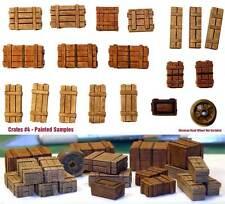 1/35 Escala Kit de resina cajas de madera set #4 MILITAR diorama Accesorio