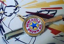Unique! NEWCASTLE BROWN ALE TIE CLIP chrome COOL xmas DESIGNER fab gift RETRO