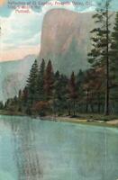 1916 Reflection of El Capitan, Yosemite Valley, CA 3300 ft above Merced POSTCARD