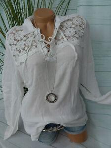 Damen Bluse Arizona AJC Shirt Langarm Gr. 34 bis 48 weiß (015)
