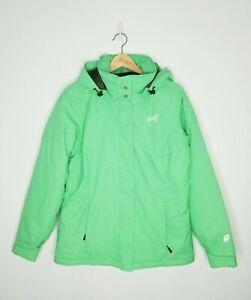 ORAGE Men Insulated Ski Snowboarding Jacket Winter Wear Light Green Size Medium