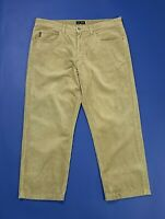 Armani jeans pantalone velluto a coste uomo usato gamba dritta W38 tg 52 T4966