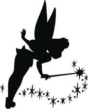 TINKERBELL Fairy Dust Silhouette home décor, kids room wall decal, vinyl sticker