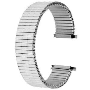 16/18/20/22mm Black/Gold/Silver Elastic Watch Strap Stretch  Bracelet Band