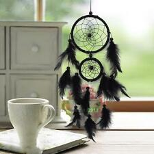 Dream Catcher With Black Feathers Wall Hanging Decoration Car Ornament Gift Kit