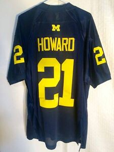 Adidas Authentic NCAA Jersey Michigan Wolverines Desmond Howard Navy sz 48