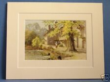 GUY'S CLIFFE MILL WARWICK ANTIQUE MOUNTED HASLEHUST PIC