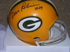 Dave Robinson signed in person Packers mini helmet