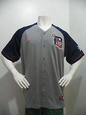 Nike Detroit Tigers MLB Baseball Jersey Shirt Short Sleeve Mens Large Gray Navy
