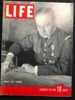 LIFE MAGAZINE - Feb 20 1939 - SPANISH CIVIL WAR / Gen. Maurice Gamelin / Fascism