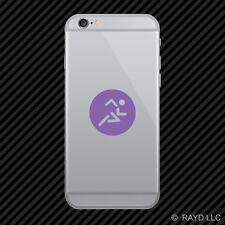 (2x) Running Cell Phone Sticker Mobile runner marathon triathlon many colors