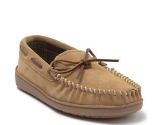 Minnetonka Tory Traditional Trapper Suede Flannel Lined Moccasins Slippers 12