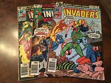 Lot of 3 Marvel The Invaders #39 40 41 comic books bronze age