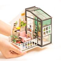 Rolife DIY Puppenhaus mit Möbeln LED Holz Miniatur Kits zu bauen Geschenk 1:24