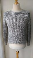 M&S Marks & Spencer Short Jumper Ladies Womens Size 14 Grey Black Mohair Mix