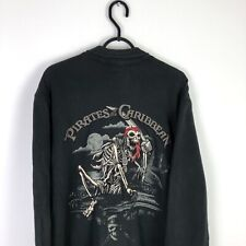 More details for disney land resort pirates of the caribbean embroidered hoodie sweatshirt large