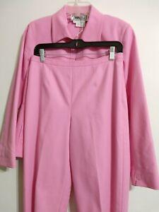 Carlisle SZ 6 Med 2 Piece Jacket Pant Suit  Pink Sophisticated Etcetera Per Se