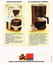 PUBLICITE ADVERTISING 025  1977  ROWENTA  cafetière