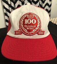 Vintage 1985 Dr. Pepper 100 Years Snapback Cap Hat Soda Cola Coca Mesh  Trucker c3cf52b6fe07