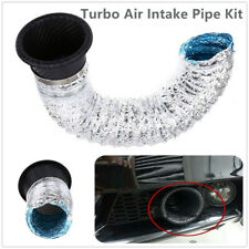 Car Parts Front Bumper Turbo Air Intake Pipe Turbine Air Funnel Kit Carbon Fiber