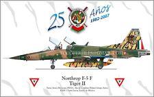 Northop F-5 F Tiger II - FAM Fuerza Aerea Mexicana - Aircraft Poster