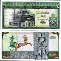 EGYPT 20 POUNDS 1976 P 48 UNC