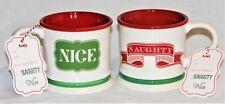 Naughty or Nice Coffee, Tea or Hot Chocolate Mug Cup  by TAG  FREE SHIPPING