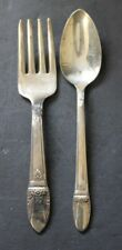 ROGERS 1847 SILVERPLATE FIRST LOVE YOUTH FORK & DEMITASSE SPOON