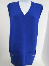 St. John by Marie Gray Royal Blue Sleeveless Sweater - Petite