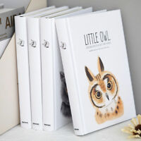 """Little Owl"" 1pc Hard Cover Big Sketchbook Cute Journal Blank Papers Notepad"