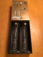 Millenium 2000 Cristal d'Arques Collectible Champagne Flutes