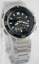 Casio AQ-S800WD-1EV Men's Watch SOLAR POWER World Time 5 Alarms 100M WR New
