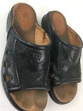 Ariat Womens Sandals Pebble Black Leather Size 7.5b (ssw2)