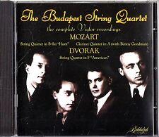 Budapest Quartet The Complete Victor Recordings- Mozart 17 Clarinet/Dvorak 12 CD