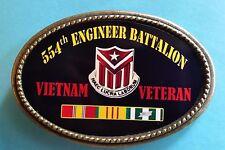 Vietnam Veteran 554th ENGINEER BATTALION  Epoxy Belt Buckle - NEW