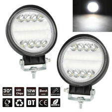 "2x 4"" 300W White LED Work Flood Driving Fog Light Auto SUV ATV Truck Boat Lamp"