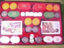 Poker set with cards, poker dice and chips - stored but unopened - in sturdy box