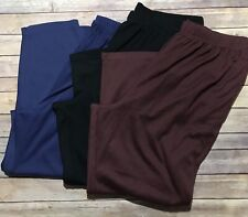Only Necessities Pants 3X Knit Pull On Comfort In Seam Pocket ~ You Choose