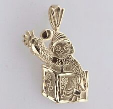Michael Anthony 14K Yellow Gold Jack in the Box Clown Charm Pendant