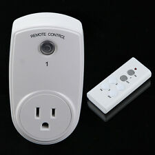 Wireless Remote Control Outlet Switch Power Plug In for lights LED bulbs US Plug