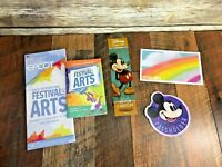 Disney Epcot Festival of the Arts Passholder Magnet Bookmark Postcard Map LOT