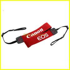 Tracolla rossa originale Canon per fotocamere. Genuine camera strap.