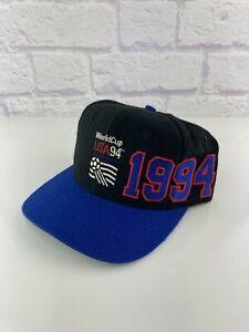 Vintage 1994 Apex One World Cup USA '94 Snapback Soccer Hat Cap VTG Football