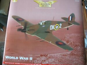 CORGI AVIATION ARCHIVE AA35502 HAWKER HURRICANE WORLD WAR 2 DEFENDERS OF MALTA