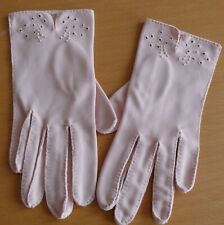 Van Raalte Soft Pink 1940-50`s Gloves All hand sewn and Embroidred 6