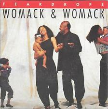 """45 TOURS / 7"""" SINGLE--WOMACK & WOMACK--TEARDROPS / CONSCIOUS OF MY CONSCIENCE"""