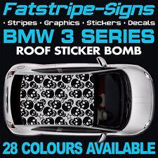 BMW 3 Series Graphics STICKER BOMB TETTO Decalcomanie Adesivi Strisce E46 E90 M3 Teschio