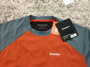 Simms SolarFlex Plus Crew Shirt - UPF 50+, Long Sleeve Medium Simms Orange